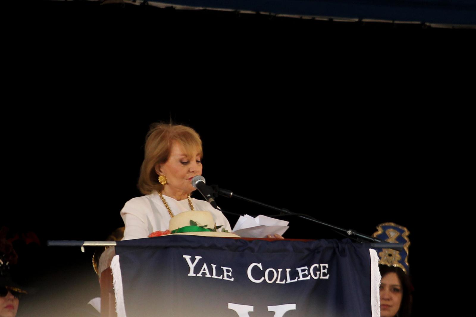 「有一天,內心的喜悅會來敲門」-Barbara Walters 給耶魯大學 2012年 畢業生的致詞